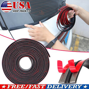 6.5FT/2M Rubber Seal Weather Strip Trim Car Front Rear Windshield Sunroof Edge