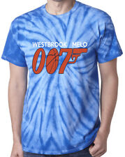 "Tie-Dye Russell Westbrook Carmelo Anthony Thunder ""007"" Jersey T-Shirt Shirt"