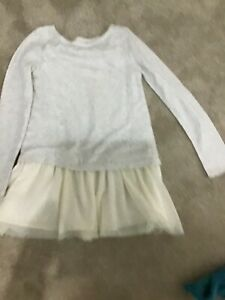 GIRLS CREAM H & M  DRESS AGE 8-10 years