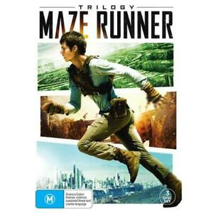 MAZE RUNNER TRILOGY DVD, NEW & SEALED, 3 DISC SET, FREE POST.