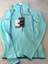 NEW! Women's MARMOT Neothermo Half Zip Lightweight Wicking Layer Blue Tint Small