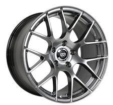 18x8 Enkei RAIJIN 5x112 +35 Hyper Silver Rims Fits Audi A4 A5 A6