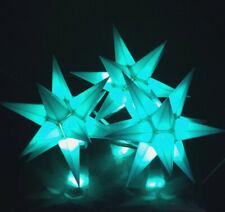 3er LED Außen-Stern-Set türkis Außenstern Adventsstern Weihnachtsstern Outdoor