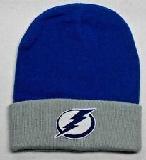 READ LISTING! Tampa Bay Lightning HEAT Applied Flat Logo on Beanie Knit Cap hat