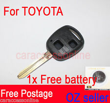 KEY Case SHELL 2 BUTTON for TOYOTA COROLLA RAV4 CAMRY KLUGER UNCUT BLADE