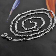 45cm White Gold Filled 9K GF Womens Chain Necklace 2mm Wide free shipping