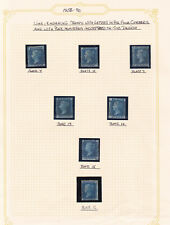 GB. QV. 1858-70. SG 45 & 47, 2d blue selection.