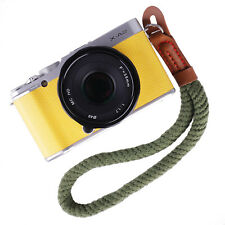 New Digital/Mirrorless Camera Wrist Hand Strap Soft Cotton Braided Army-green