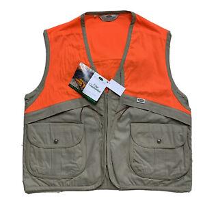 Neuf XL Boyt Harnais Company Fauve/Blazer Coton Ciré Upland Chasse Gilet
