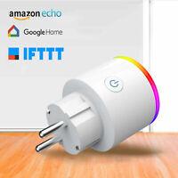 WiFi Smart Plug Wall Socket  Remote Control Alexa Google Home LED Energy Monitor