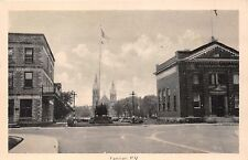 FARNHAM QUEBEC CANADA TOWN SQUARE PHOTO POSTCARD