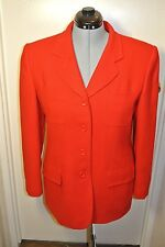 Vintage Jones New York Red Worsted Wool Dress Jacket  Womens sz 14 Made in USA