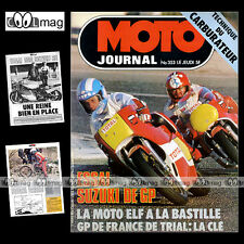 MOTO JOURNAL N°353 ELF X SUZUKI RG 500 SWM 125 TRIAL TECHNIQUE CARBURATEURS 1978