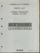 Original Factory Yamaha CS-70R AM/FM Hi-Fi Stereo Receiver Parts List