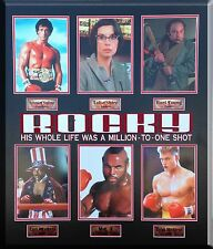 ROCKY 8X10 COLLAGE FRAMED SYLVESTER STALLONE UN AUTOGRAPH MOVIE II III IV V VI