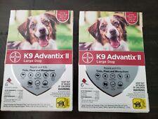2× Bayer K9 Advantix Ii Large Dog Flea & Tick Treatment 21-55 lbs 12 Doses New
