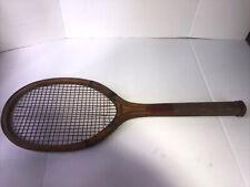 "Antique Thos. E. Wilson & Co "" Wilding"" Wood Tennis Racquet"