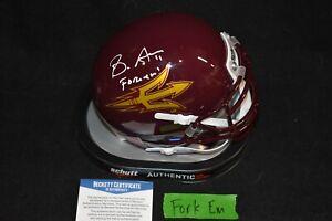"""Brandon Aiyuk Signed Mini Helmet Arizona State/Beckett Cert """"Fork Em"""""""