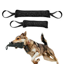 Dog Bite Tug Toy Strong Linen Chew Training with 2 Handles Medium Large Dog Play