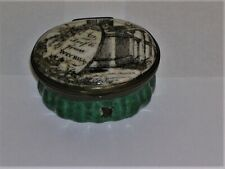 New ListingBattersea Bilston Trinket Box A Trifle From Weyhill Late 18th Century Green Base