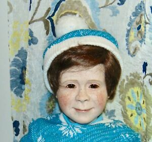 Rare! MARCI COHEN Porcelain Doll ANDY 1/25 Extremely Limited! FRECKLE FACED BOY