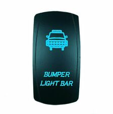 12V 20A ROCKER SWITCH BLUE BUMPER LASER LED UTV Boat Truck