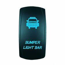 Dual BackLit LED BLUE BUMPER LIGHT BAR Rocker Switch ON OFF ATV UTV OFF ROAD