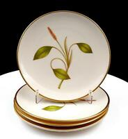 """FRANCISCAN USA 4 PC MESA PINK & YELLOW FLOWER PLANT 6 1/4"""" BREAD & BUTTER PLATES"""