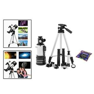 70mm Aperture HD Refractor Telescope with Storage bag Nebula map for Kids