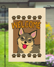 Swedish Vallhund Welcome Dog Garden Banner Flag 11x14 to 12x18 Yard Decor Pet
