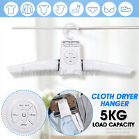 Portable Electric Folding Clothes Hanger Dryer Laundry Rack Travel Drying Rack