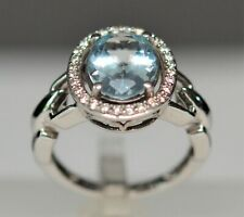 Ring: LeVian Aquamarine & Diamond, 14K White Gold, Value $3,400