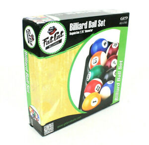 """Fat Cat Billiard Ball Set GLD Products For Pool Table Regulation 2 1/4"""" With Box"""