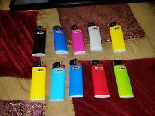 (10) BRAND NEW  mini assorted colors bic lighters