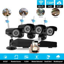 8-Channel P2P NVR Outdoor Waterproof IR-Cut IP WIFI 720P Camera Security System
