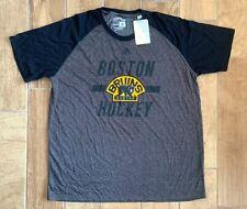New Authentic Men's Adidas NHL Boston Bruins Ultimate Tee Shirt Grey Sz 2XL
