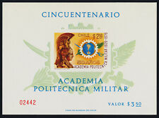 Chile 493 on Card MNH - Polytechnic Military Academy, Minerva, Emblem