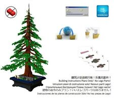 Lego Bonsai Custom American Redwood Sequoia Instructions Pot Tree Plant Garden