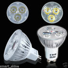 10x GU10 / MR16 LED LAMPs 3W HIGH POWER SPOTLIGHT DAY/ WARM WHITE LIGHT BULBS UK