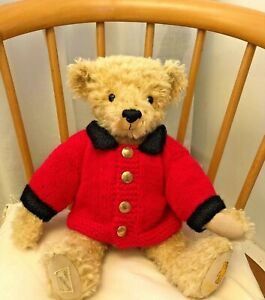 ++TEDDY CLOTHES++ new hand knitted military style jacket for a 13 - 14 inch bear