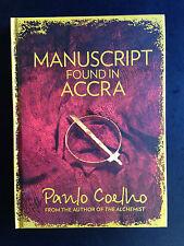 Manuscript Found In Accra, By Paulo Coelho, H/C GC