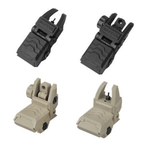 Low Profile Tactical Front&Rear Sight Flip Up Sight Foldable fit Picatinny Rail