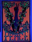 """Original """"PEACE"""" V Victory Trippy Art Blacklight Poster 23"""" X 35"""" Matt Boulton"""