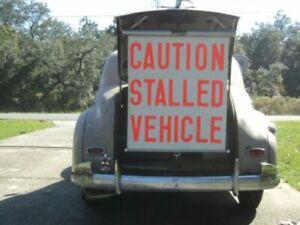VINTAGE AUTO ACCESSORY RETRACTABLE TRUNK MOUNT WARN-O-SCREEN NOS