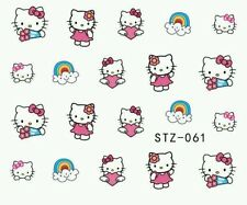 1 Sheet Lovely Hello Kitty water transfer Nail Sticker decal on nail art decal