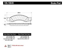 Disc Brake Pad Set Rear Centric 106.10640