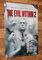 The Evil Within 2 Rare Promo Poster 59x42cm Playstation 4 PS4 Xbox One