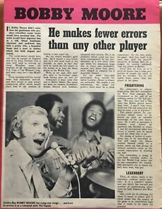 Football Article 1970 Bobby Moore West Ham Pop Star Image With The Equals