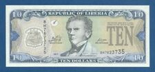 LIBERIA -- 10 DOLLARS ( 2011 ) -- UNC -- PICK 27f .