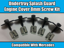5x Screws For Mercedes Engine gearbox Undertray Splash Guard Cover Set Kit 8mm